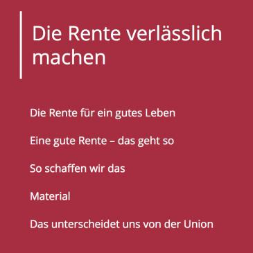 Das Rentenprogramm der SPD