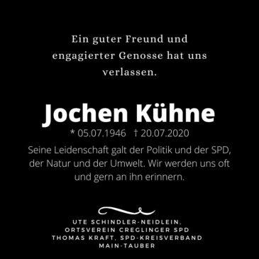 Jochen Kühne verstorben